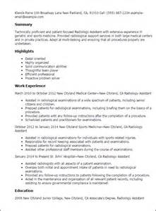 radiology manager resume templates professional radiology assistant templates to showcase your talent myperfectresume