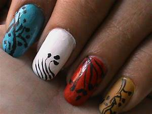 Nail art designs for beginners at home ? easy