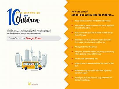 Safety Bus Tips Children Infographic Trackschoolbus Track
