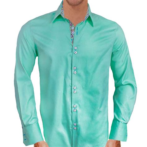 mens designer dress shirts green with purple dress shirts