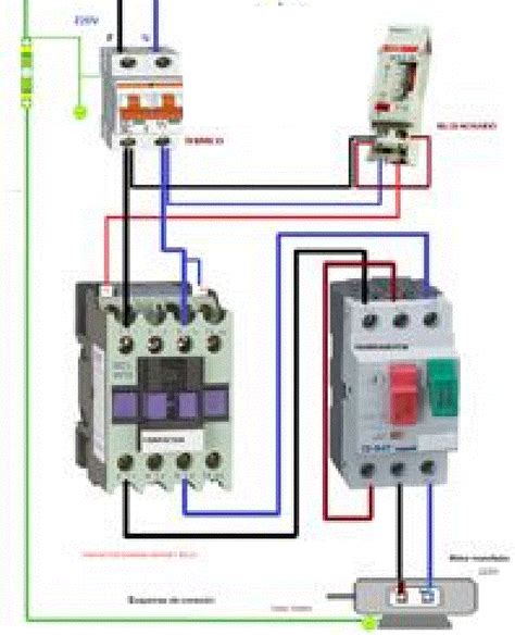 single phase motor contactor connection electrical