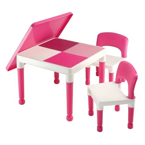 lego table with storage 161 | Picture%20 %20Large%20Abracadabrazoo%20Girls%27%20Pink%20Preschool%202%20in%201%20table%20and%20chair%20set%20l%20and%20d%20compatible%285%29