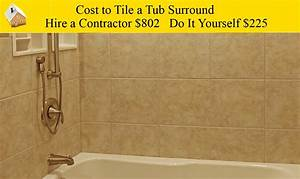Cost To Tile A Tub Surround YouTube