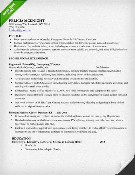New Grad Rn Resume Template by Resume Exles Rn Exles Resume Resumeexles 4