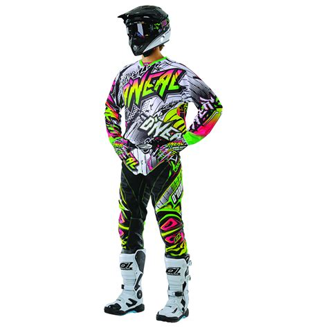 motocross gear for oneal 2013 hardwear automatic white neon mx motocross