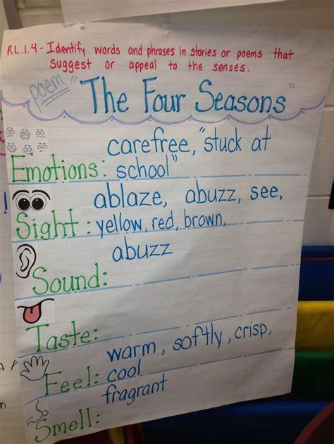 seasons poem rl  grade reading
