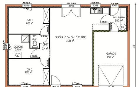 Plan Maison 2 Chambres - plan et photos maison 2 chambres de 67 m