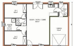 plan et photos maison 2 chambres de 67 m2 With plan gratuit de maison 15 plan daccas et contact
