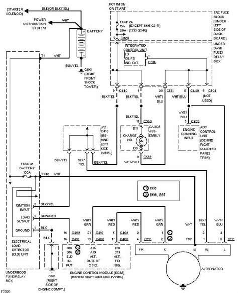 Honda Acura Integra Charging Circuit Diagram All