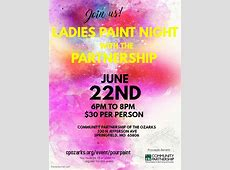 Ladies Paint Night with the Partnership