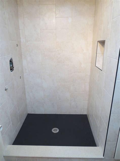 porcelain bathroom tile ideas vertical running bond tile shower install
