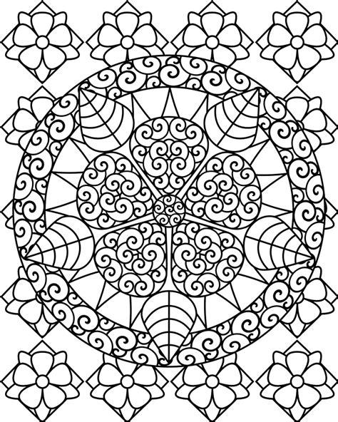 printable abstract coloring pages  kids