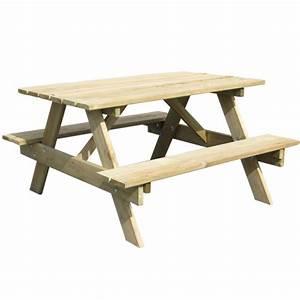 Table Pique Nique Enfant : table pique nique enfant en bois 90 x 90 x h 50 cm ~ Dailycaller-alerts.com Idées de Décoration