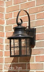freshening up the outside with a little spray paint With painting an outdoor light fixture