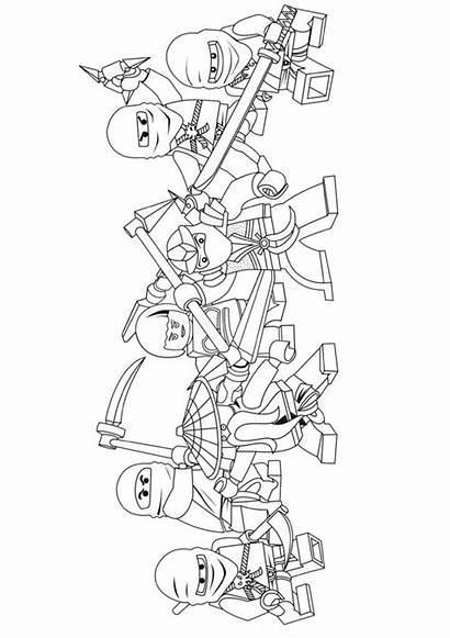Ninjago Coloring Gang Pages Printable Worksheets Story