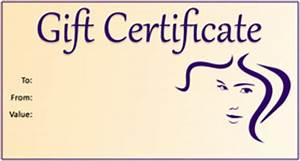 gift template select a gift certificate template to With haircut gift certificate template