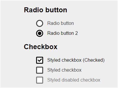 pretty custom checkboxes radio buttons with pure css css3 checkbox css script