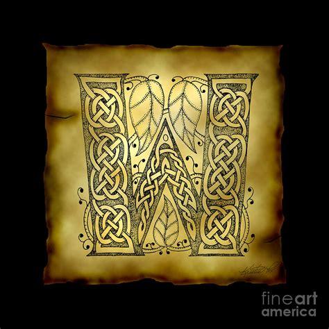 celtic letter  monogram mixed media  kristen fox