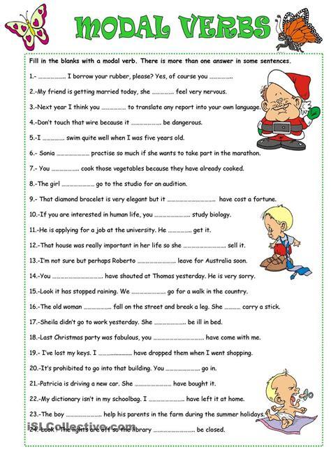 modal verbs english grammar worksheets verb worksheets