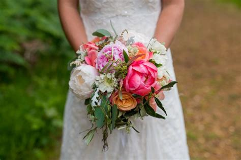 70 best images about peach and coral wedding flowers on