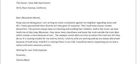 complaint letter   coworker sample letter