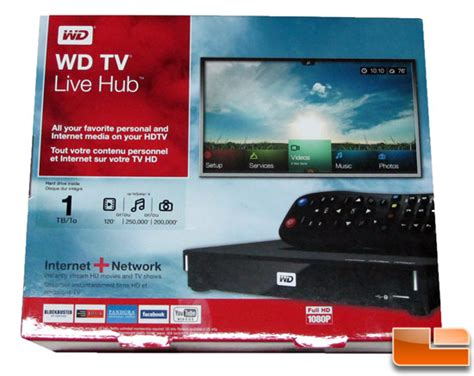 Wd Tv Live Hub Media Player W/ 1tb Of Internal Storage