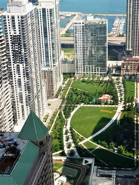 park  lakeshore east award winning chicago park design