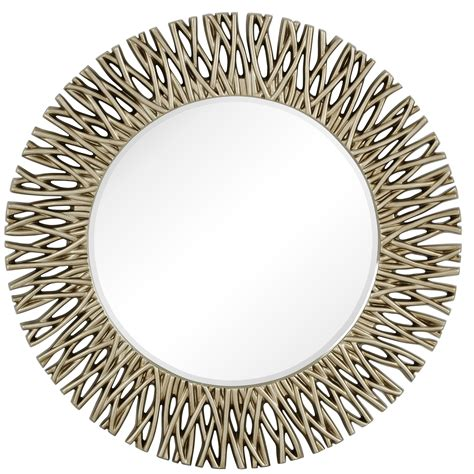 The ample size of this large wall mirror makes a great accent decor centerpiece in an entryway, living room, or dining room and is easy and ready to hang by the keyhole hardware in the back. Majestic Mirror Large Round Antique Silver Decorative ...