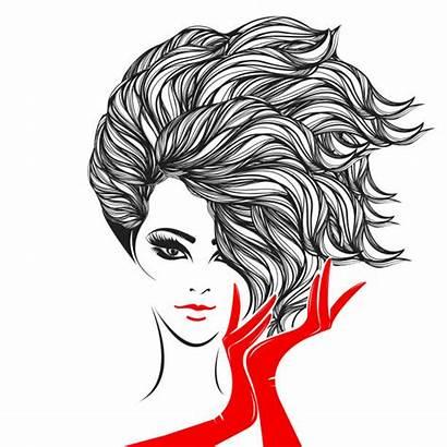 Hair Vector Woman Makeup Bold Wavy Lipstick