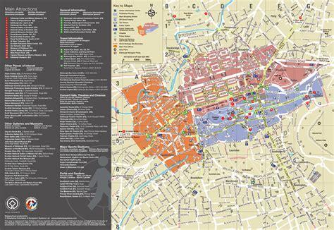 maps  edinburgh detailed map  edinburgh  english