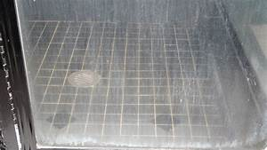groutastic hard water With soap scum on shower floor