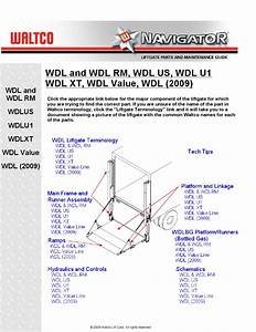 Waltco Wdl Series Liftgate By The Liftgate Parts Co