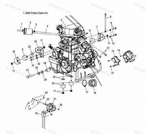Polaris Atv 2004 Oem Parts Diagram For Engine Mounting