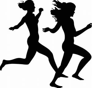 Woman running silhouette free vector download (7,633 Free ...