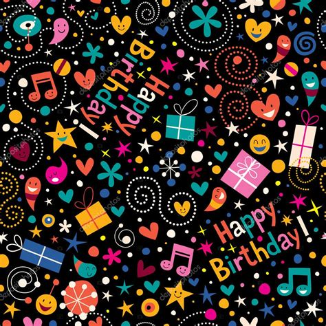 happy birthday pattern stock vector 169 aliasching 58678203