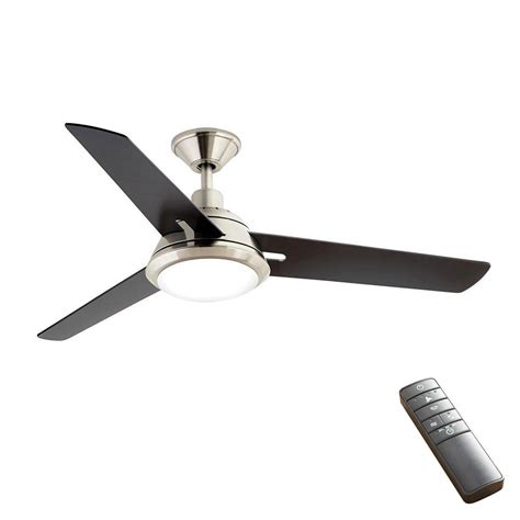 smart home ceiling fan home decorators collection gardinier 52 in led brushed