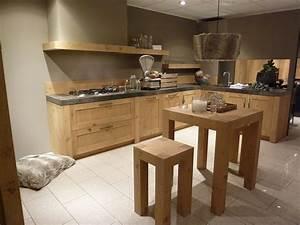 Meuble Cuisine Bois Naturel : fabrication de cuisines sur mesure loire montbrison briat ~ Teatrodelosmanantiales.com Idées de Décoration