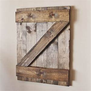 hand made rustic wooden barn door shutter 34quot x 28 With all barn wood inc
