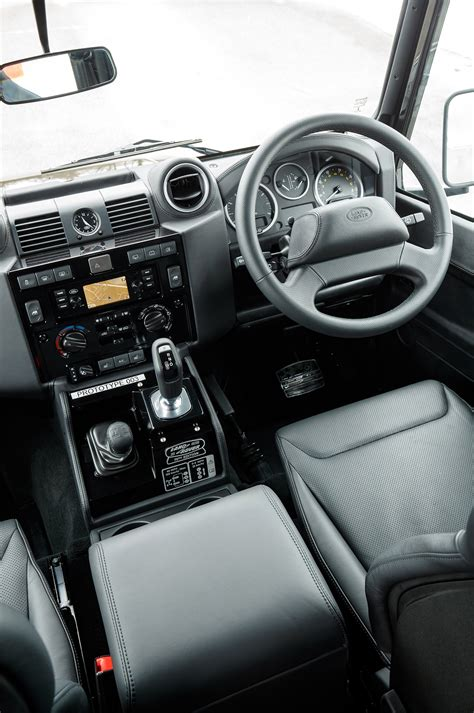 land rover defender  works  front interior drivers