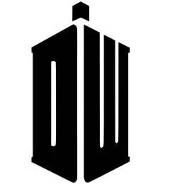 Tardis Pumpkin Stencil by Medium Doctor Who Blue Box Logo Precision Cut Vinyl Car