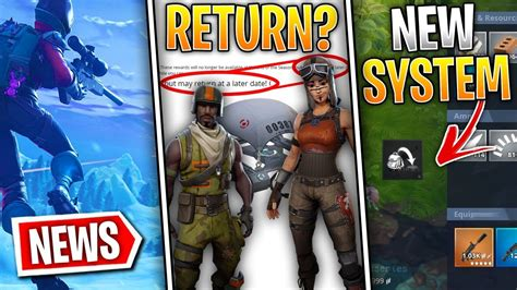 fortnite news season  skins  return replace current