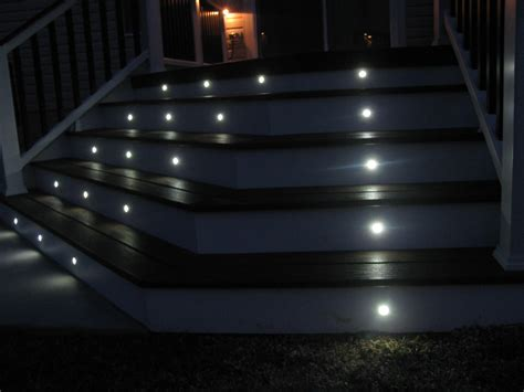 solar led deck lights led deck lights portfolio 12x 05watt 5light black solar