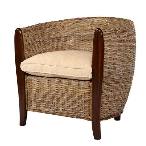 canape en osier ou rotin fauteuil cabriolet kubu acheter fauteuil cabriolet