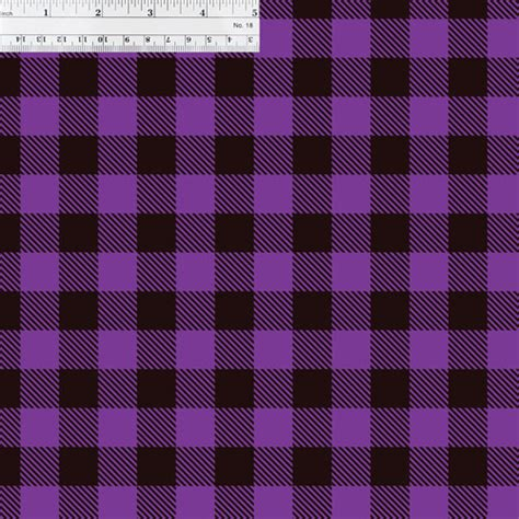 printed htv purple buffalo plaid print    sheet