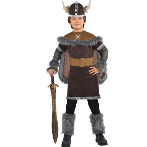 Child Boys Viking Warrior Saxon Book Week Fancy Dress Costume With Helmet Outfit   eBay