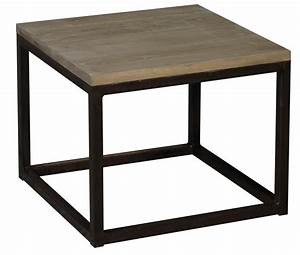 table basse industrielle carre 50x50 cm With meuble 50x50