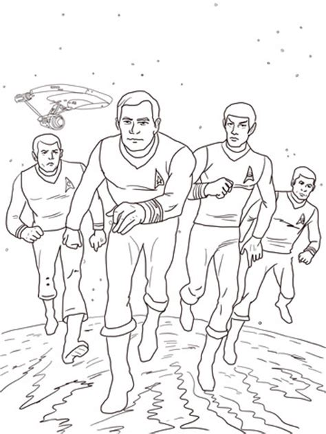 star trek  animated series coloring page