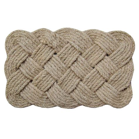 braided coir doormat creative accents rope 18 in x 30 in coir door