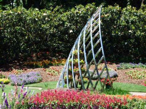 A Plant Climbing Frame Sculpture In The Gardens  Anna And