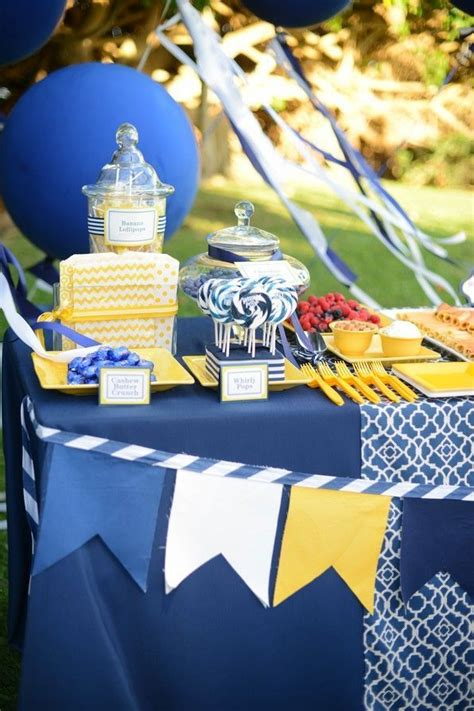 mariage bleu jaune bleu anniversaire deco mariage jaune